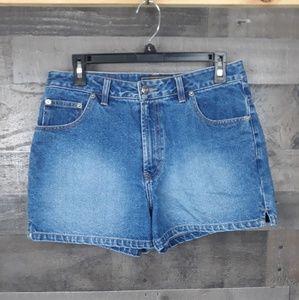 Vintage Route 66 Blue Denim shorts